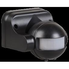 Датчик движения ДД 009 черный, макс. нагрузка 1100Вт, угол обзора 180град., дальность 12м, IP44,