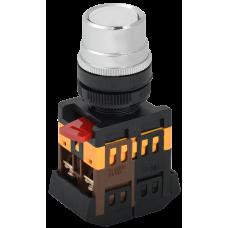 Кнопка ABLF-22 белый d22мм неон/240В 1з+1р