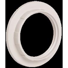 Кольцо к патрону, пластик, Е27, белый, индивидуальный пакет,