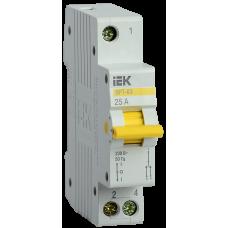 Выключатель-разъединитель трехпозиционный ВРТ-63 1P 25А