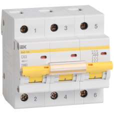 Автоматический выключатель  ВА 47-100 3Р 16А 10 кА х-ка С