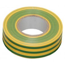 Изолента 0,13х15 мм желто-зеленая 10 метров