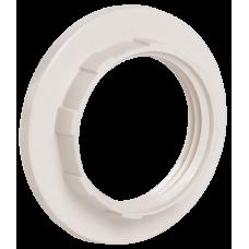 Кольцо к патрону, пластик, Е14, белый, индивидуальный пакет,