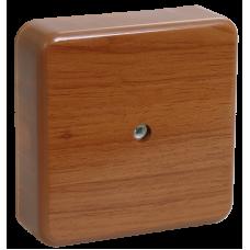 Коробка КМ41212-05 распаячная для о/п 75х75х20 мм дуб (6 клемм 6мм2)