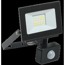 Прожектор СДО 06-20Д светодиодный черный с ДД IP54 6500K