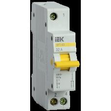 Выключатель-разъединитель трехпозиционный ВРТ-63 1P 32А