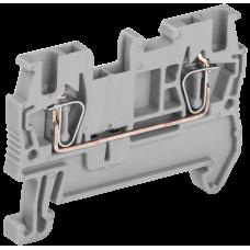 Клемма пружинная КПИ 2в-1,5 17,5А серый