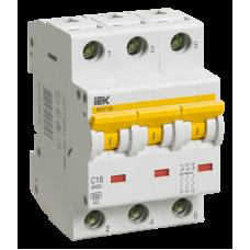 Автоматический выключатель  ВА 47-60 3Р 10А 6 кА х-ка D
