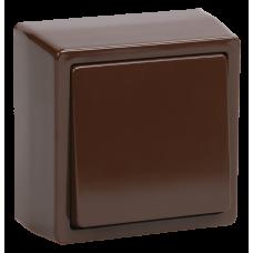 """ВС20-1-0-БК Выключатель одноклавишный для Открытой установки 1 """"БРИКС"""" цвет: коричневый"""