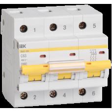 Автоматический выключатель  ВА 47-100 3Р 25А 10 кА х-ка С
