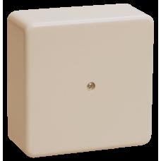 Коробка КМ41212-02 распаячная для о/п 75х75х20 мм слоновая кость (6 клемм 6мм2)
