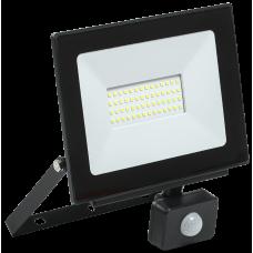 Прожектор СДО 06-50Д светодиодный черный с ДД IP54 6500K