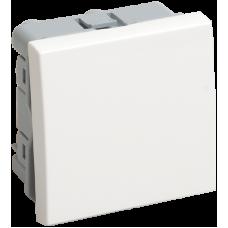 ВКО-21-00-П Выключатель одноклавишный (на 2 модуля) ПРАЙМЕР белый