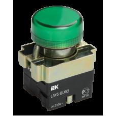 Индикатор LAY5-BU63 зеленого цвета d22мм