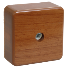 Коробка КМ41206-05 распаячная для о/п 50х50х20 мм дуб (4 клеммы 3мм2)