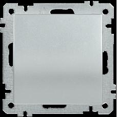 ВС10-1-0-Б Выключатель 1 клав. 10А BOLERO серебр.