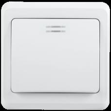 ВС10-1-1-ВБ Выключатель 1кл 10А с инд. ВЕГА (белый)