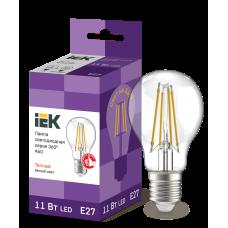 Лампа LED A60 шар прозр. 11Вт 230В 3000К E27 серия 360°
