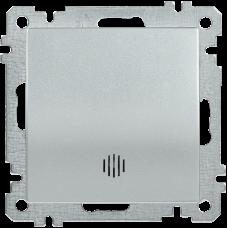 ВС10-1-1-Б Выключатель 1 клав. инд. 10А BOLERO серебр.