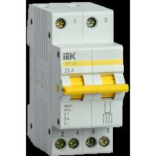 Выключатель-разъединитель трехпозиционный ВРТ-63 2P 25А