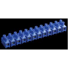 Зажим винтовой ЗВИ-10 н/г 2,5-6мм2 12пар синие