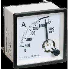 Амперметр Э47 1500/5А кл. точн. 1,5 72х72мм