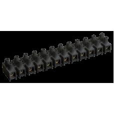 Зажим винтовой ЗВИ-10 н/г 2,5-6мм2 12пар черные