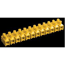 Зажим винтовой ЗВИ-10 н/г 2,5-6мм2 12пар желтые