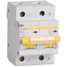 Автоматический выключатель  ВА 47-100 2Р 25А 10 кА х-ка С