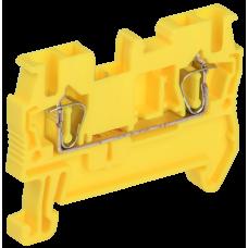 Клемма пружинная КПИ 2в-2,5 31А желтый