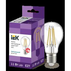 Лампа LED A60 шар прозр. 11Вт 230В 4000К E27 серия 360°