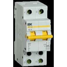 Выключатель-разъединитель трехпозиционный ВРТ-63 2P 63А