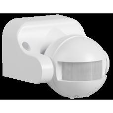 Датчик движения ДД 009 белый, макс. нагрузка 1100Вт, угол обзора 180град., дальность 12м, IP44,