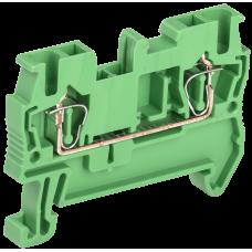 Клемма пружинная КПИ 2в-2,5 31А зеленый