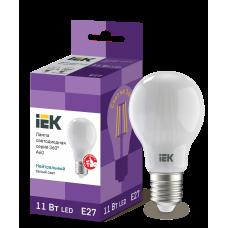 Лампа LED A60 шар матов. 11Вт 230В 4000К E27 серия 360°