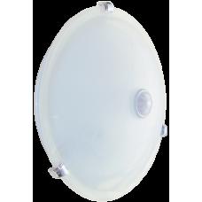 Светильник НПО3231Д белый 2х25 с датчиком движения