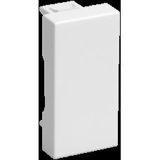 ЗК-00-01-П Заглушка на 1 модуль белая
